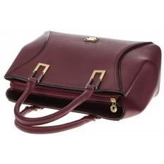 На фото 4 - Классическая женская сумка из искусственной кожи, цвет бордо