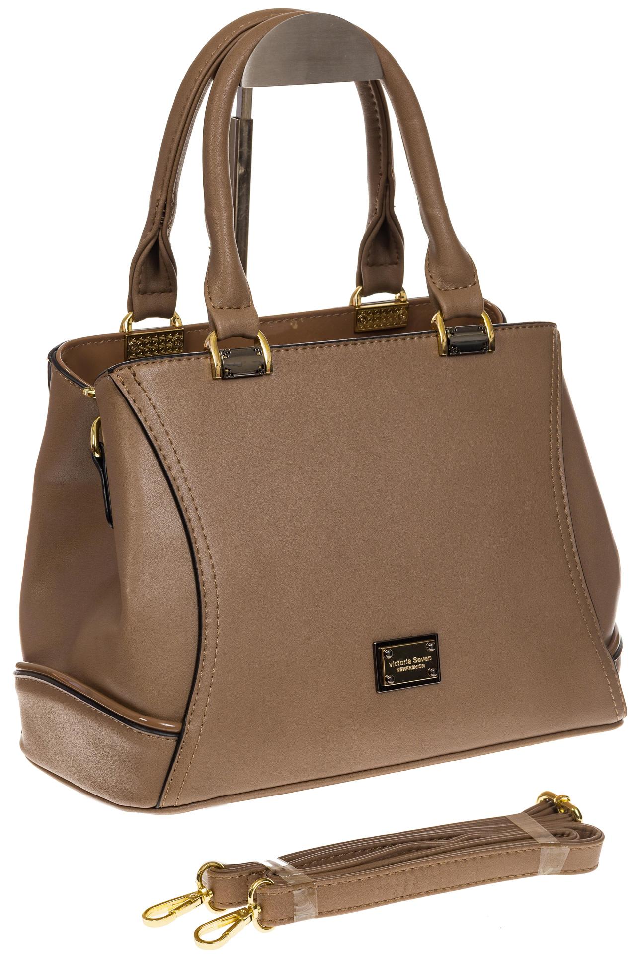 На фото 1 - Женская сумка, искусственная кожа, цвет бежевый