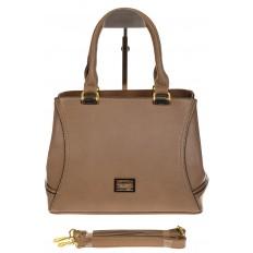 На фото 2 - Женская сумка, искусственная кожа, цвет бежевый