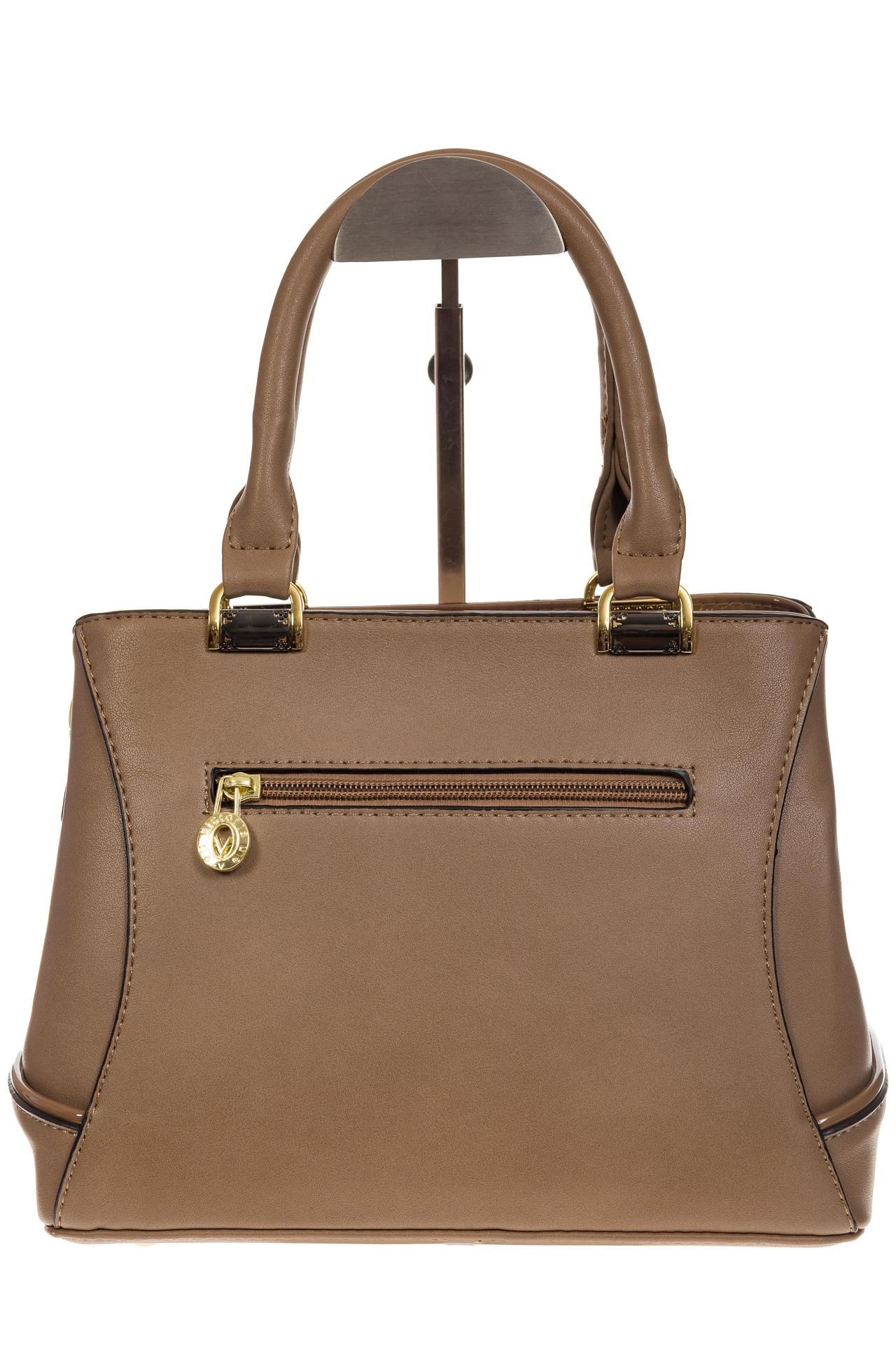 На фото 3 - Женская сумка, искусственная кожа, цвет бежевый
