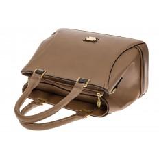 На фото 4 - Женская сумка, искусственная кожа, цвет бежевый