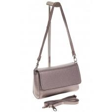 На фото 1 - Бронзовая маленькая сумка из искусственной кожи