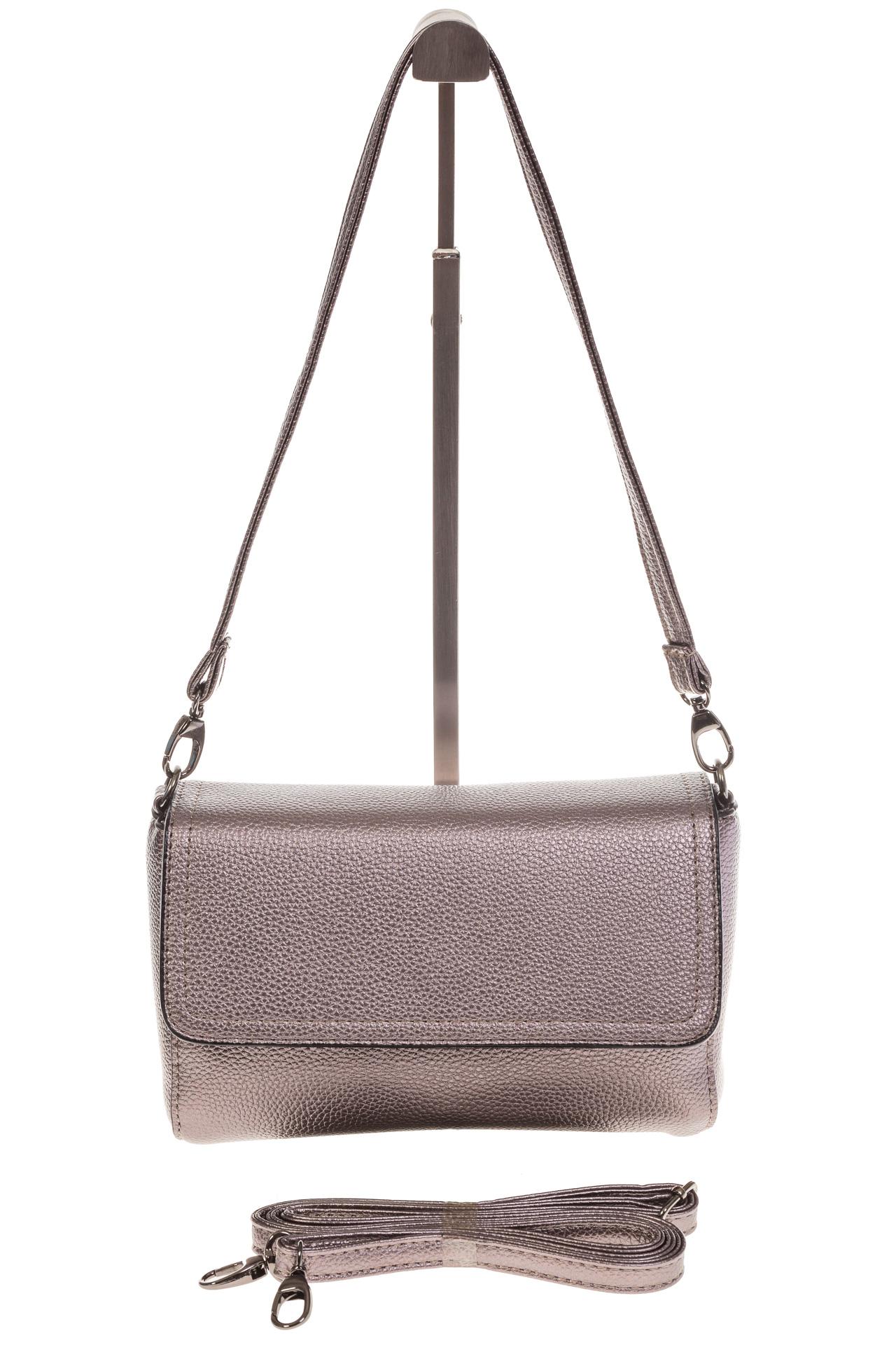На фото 2 - Бронзовая маленькая сумка из искусственной кожи
