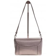 На фото 3 - Бронзовая маленькая сумка из искусственной кожи