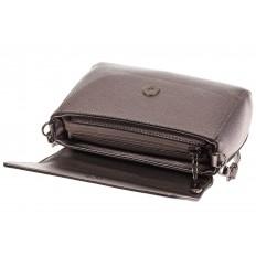 На фото 4 - Бронзовая маленькая сумка из искусственной кожи