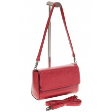На фото 1 - Красная маленькая сумка из искусственной ко...