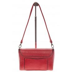 На фото 3 - Красная маленькая сумка из искусственной кожи