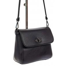 На фото 1 - Женская сумка кросс-боди из экокожи, черная