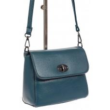 На фото 1 - Женская сумка кросс-боди из экокожи, темно-голубая
