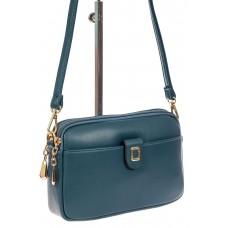 На фото 1 - Женская сумка кросс-боди из экокожи, цвет синий
