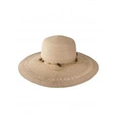 На фото 1 - Плетёная женская шляпа с широкими полями, цвет пудровый