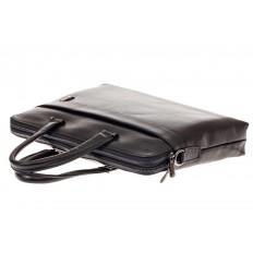 На фото 4 - Мужская сумка-папка из натуральной кожи, цвет черный