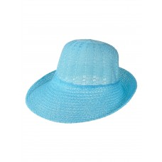 На фото 1 - Лёгкая женская шляпка, цвет голубой