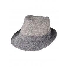 На фото 1 - Летняя молодёжная шляпа, цвет серый