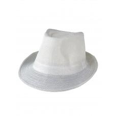 На фото 1 - Летняя молодёжная шляпа, цвет белый