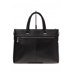 На фото 3 - Мужской портфель из натуральной кожи, цвет черный