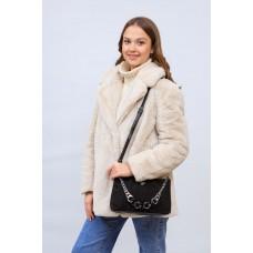 На фото 1 - Женская сумка кросс-боди  из натуральной замши и искусственной кожи, цвет шоколад