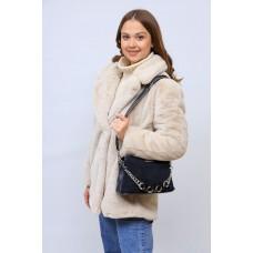 На фото 1 - Женская сумка кросс-боди  из натуральной замши и искусственной кожи, цвет серый