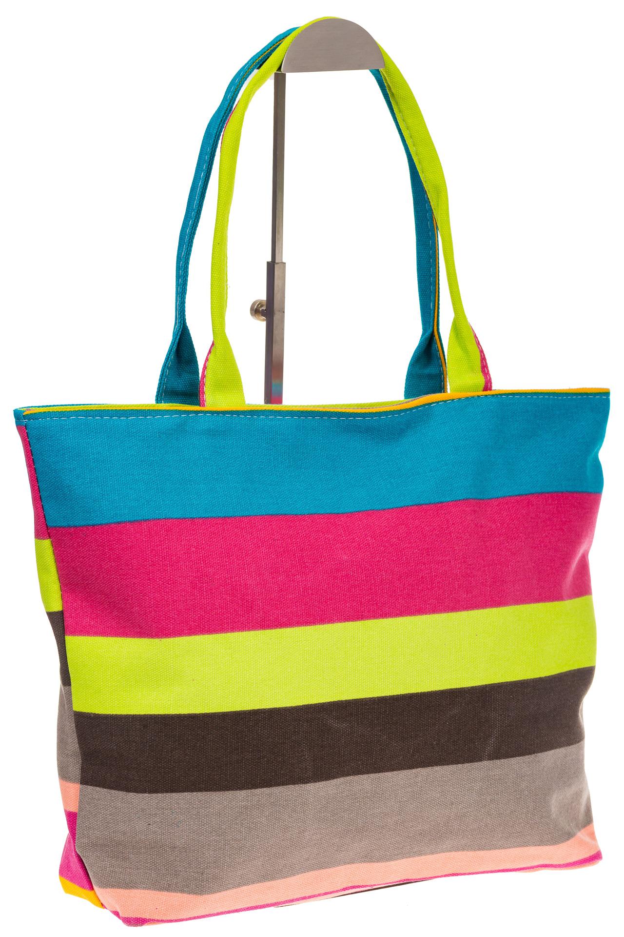 На фото 1 - Яркая текстильная сумка с желтым цветом 5930