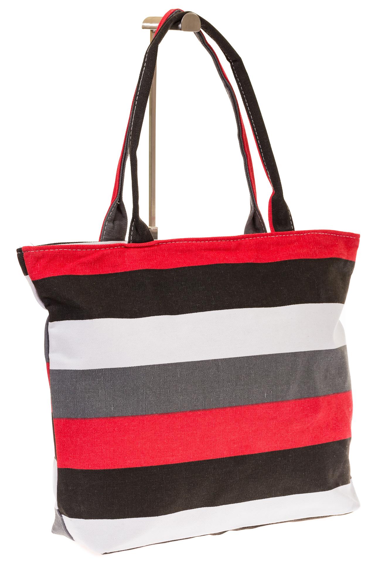на фото Яркая текстильная сумка с белым цветом 5930TM5