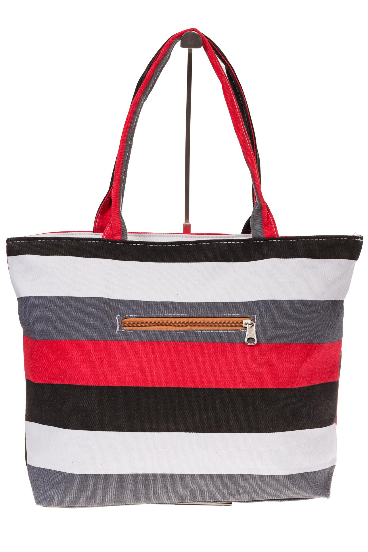 На фото 3 - Яркая текстильная сумка с белым цветом 5930TM5