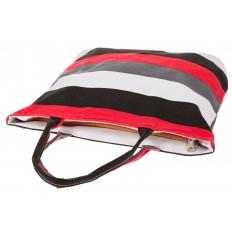 На фото 4 - Яркая текстильная сумка с белым цветом 5930TM5
