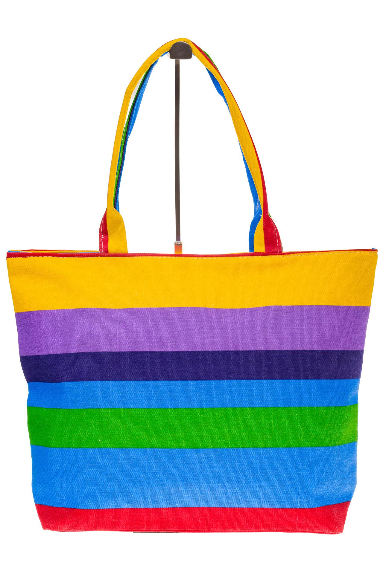 На фото 2 - Яркая текстильная сумка с фиолетовым цветом 5930TM5