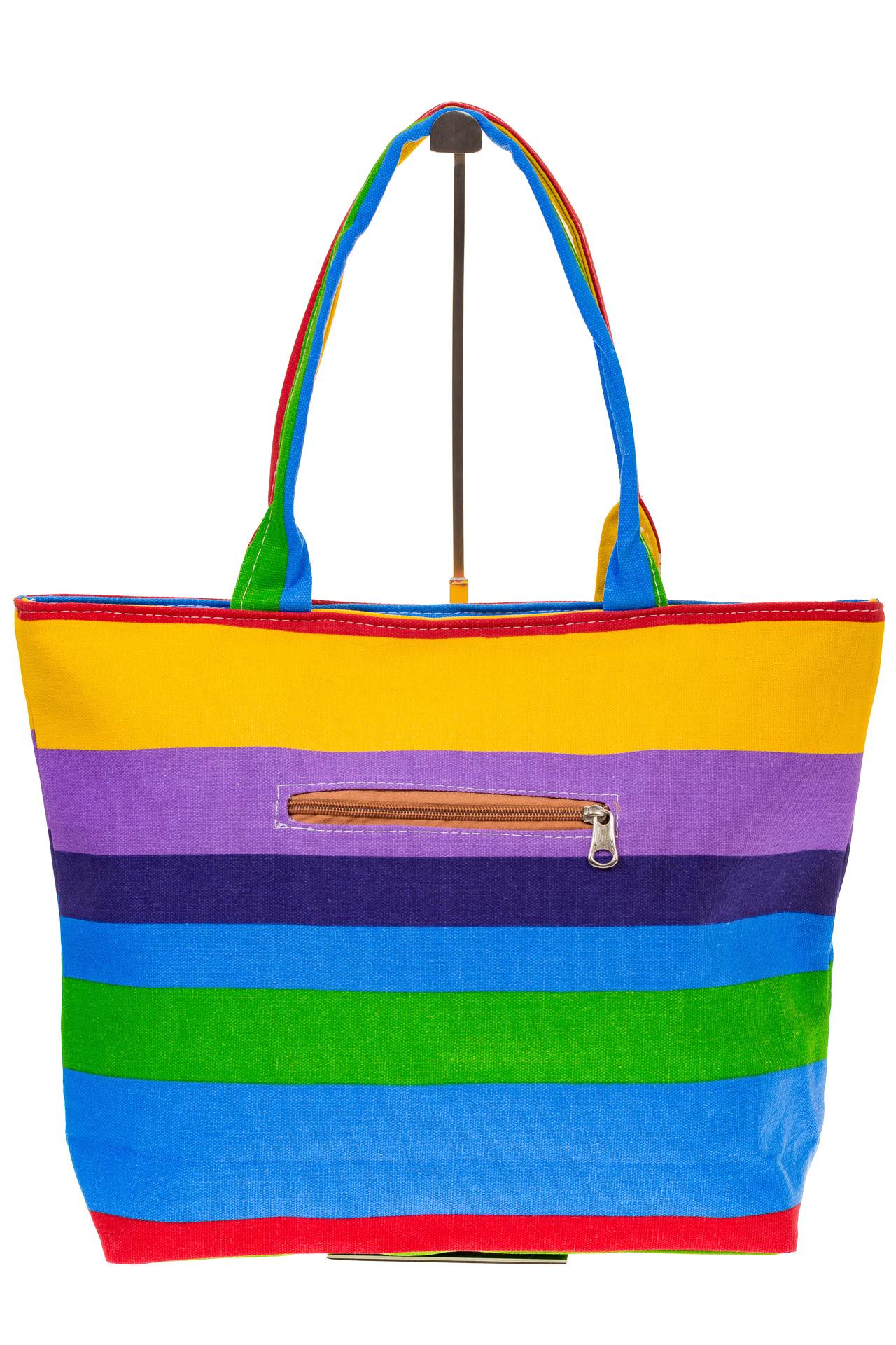 На фото 3 - Яркая текстильная сумка с фиолетовым цветом 5930TM5