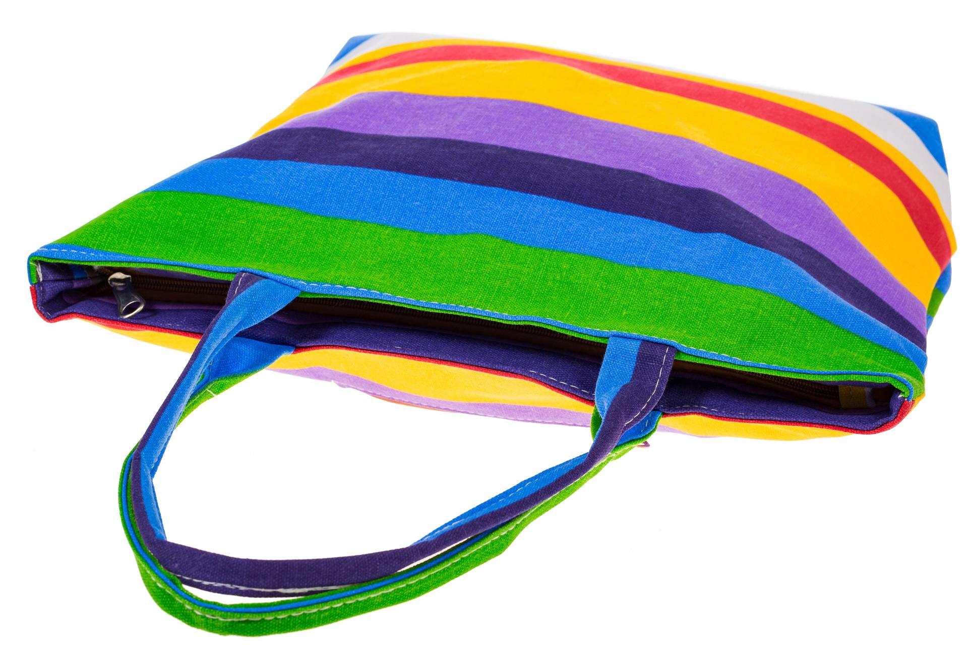 На фото 4 - Яркая текстильная сумка с фиолетовым цветом 5930TM5