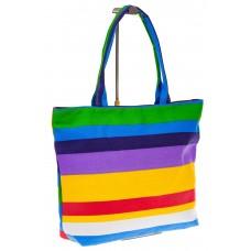 на фото Яркая текстильная сумка с синим цветом 5930TM5