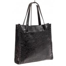 На фото 1 - Большая качественная сумка комбинированная, цвет черный