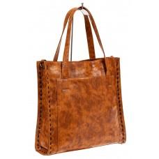 На фото 1 - Большая сумка женская комбинированная, цвет...