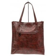 На фото 3 - Сумка с дополнительным ремешком, цвет коричневый