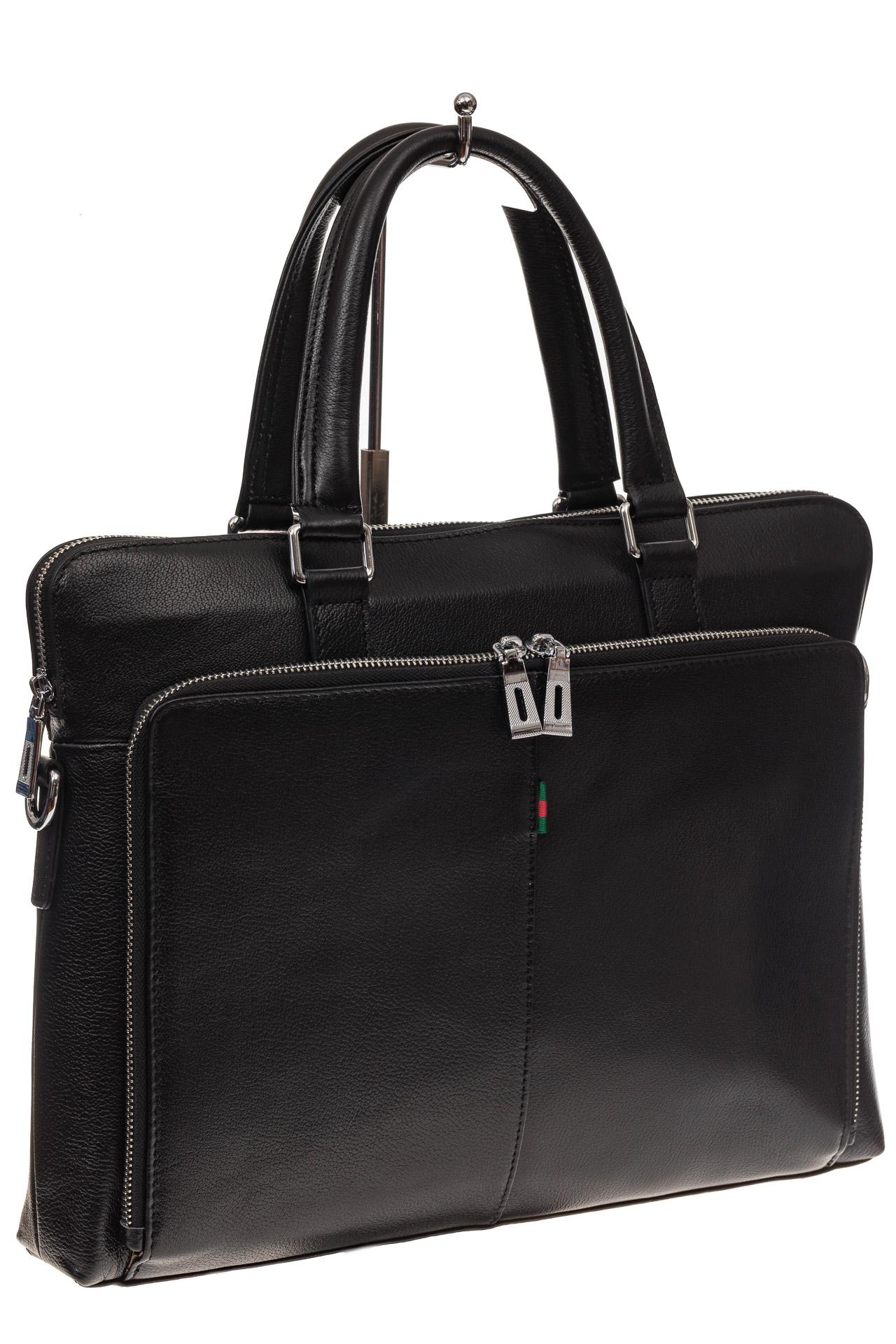 На фото 1 - Стильный мужской портфель из натуральной кожи
