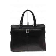 На фото 2 - Стильный мужской портфель из натуральной кожи