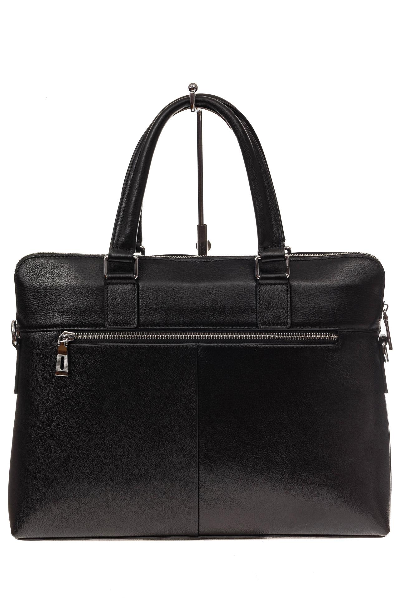 На фото 3 - Стильный мужской портфель из натуральной кожи