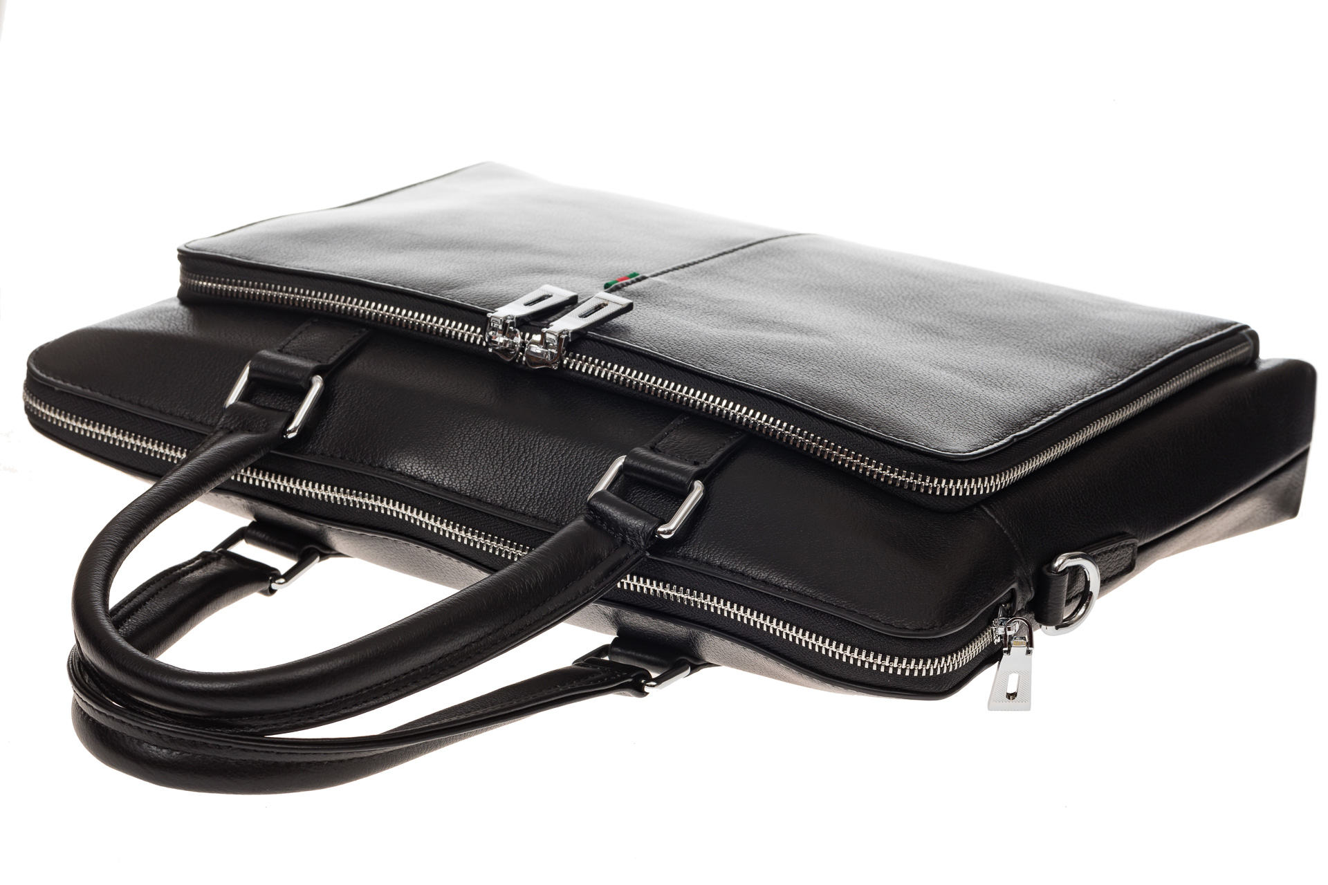 На фото 4 - Стильный мужской портфель из натуральной кожи