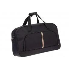 На фото 1 - Дорожная женская сумка из ткани, цвет черный
