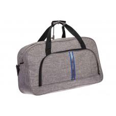 На фото 1 - Дорожная женская сумка из текстиля, цвет серый