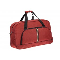На фото 1 - Дорожная женская сумка из текстиля, цвет бордовый