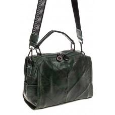 На фото 1 - Сумка - рюкзак женская из искусственной кожи, цвет зеленый