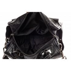 На фото 4 - Сумка - рюкзак женская из искусственной кожи, цвет рыжий