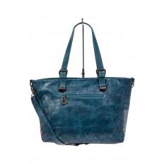 На фото 3 - Большая сумка женская комбинированная, цвет синий