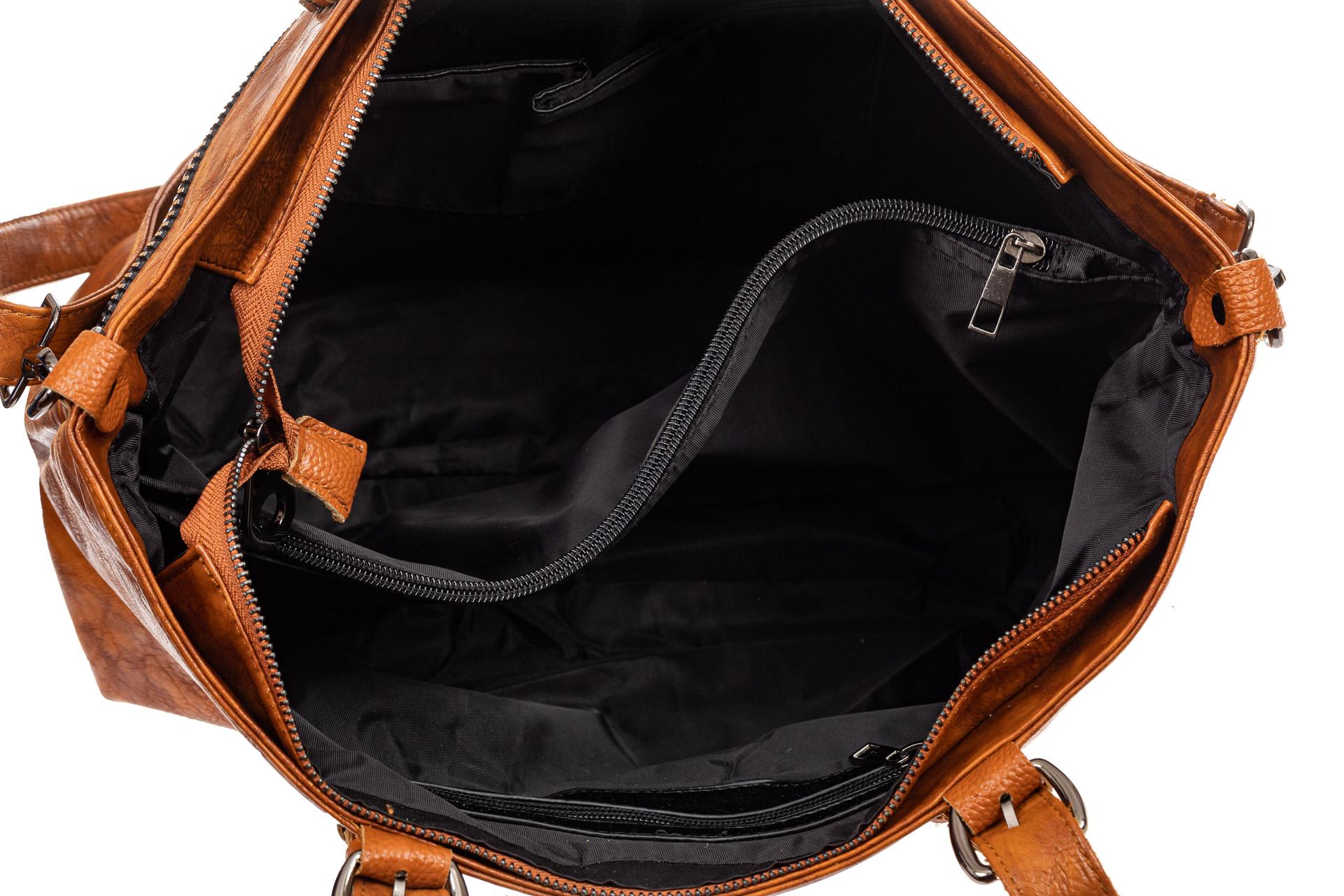 На фото 4 - Большая сумка женская комбинированная, цвет синий