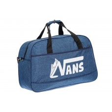 На фото 1 - Спортивная женская сумка из текстиля, цвет синий