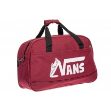 На фото 1 - Дорожная женская сумка из ткани, цвет бордовый
