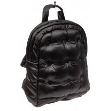 На фото 1 - Дутый рюкзак из болоньевой ткани, цвет черный
