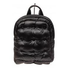 На фото 2 - Дутый рюкзак из болоньевой ткани, цвет черный
