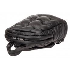 На фото 4 - Дутый рюкзак из болоньевой ткани, цвет черный