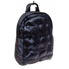 На фото 1 - Дутый рюкзак из болоньевой ткани, цвет темно-синий